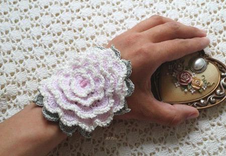 """Браслет вязаный бохо """"Розовая мечта"""" ручная работа ручной работы на заказ"""