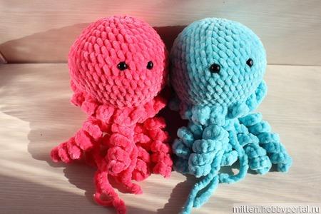 Плюшевые медузы ручной работы на заказ