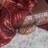 Финикийское колье - украшение ручной работы из полимерной глины