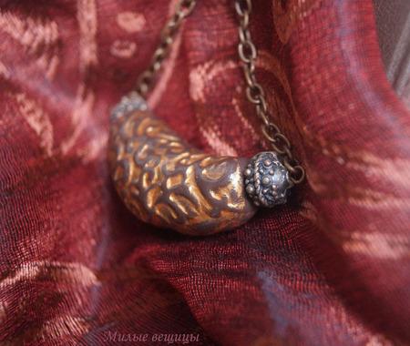 Финикийское колье - украшение ручной работы из полимерной глины ручной работы на заказ