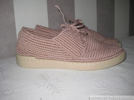 Туфли-ботинки с открытой шнуровкой ручной работы на заказ