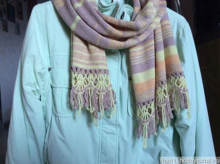 Шарф полосатая пастель ручной работы на заказ