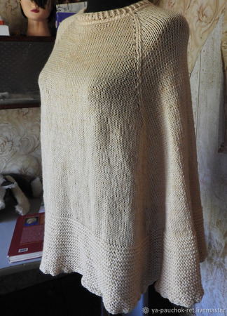 Пончо вязаное ручной работы на заказ
