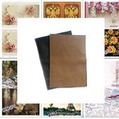 Обложки для паспорта из натуральной кожи + Декупажные карты