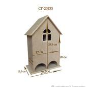 133 Чайный домик двойной. Заготовки для декупажа