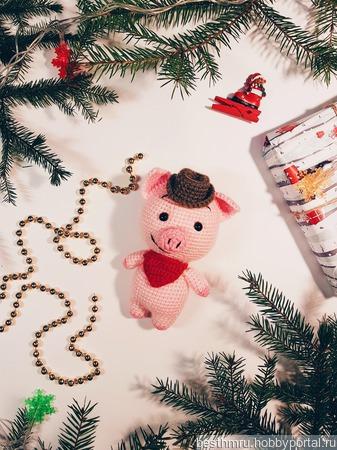 Свинка символ нового года ручной работы на заказ