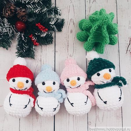 Вязаные снеговички ручной работы на заказ