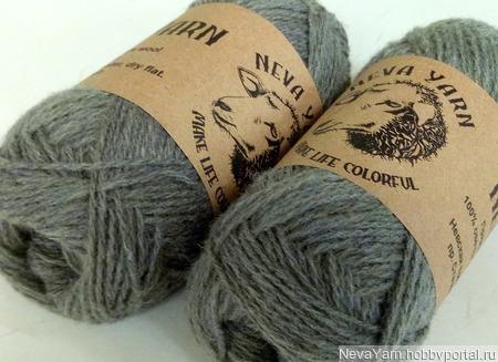 Натуральная пряжа Neva Yarn из овечьей шерсти тонкорунных пород ручной работы на заказ