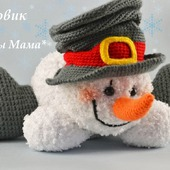 Мастер-класс по вязанию растаявшего снеговика