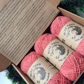 YARNBOX-промо - Набор натуральной пряжи Neva Yarn из овечьей шерсти тонкорунных пород