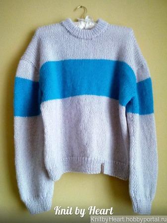 Вязаный свитер ручной работы из мохера в СПБ ручной работы на заказ