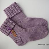 Шерстяные вязаные носочки