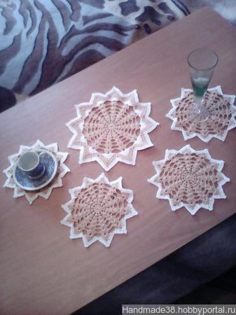 Комплект сервировочных салфеток( под чашку) ручной работы на заказ