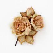 Брошь розы розово-бежевые