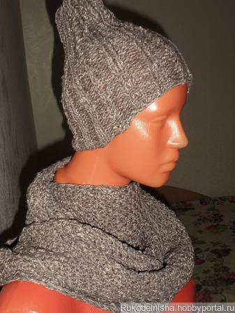 Комплект: шапочка и снуд ручной работы на заказ