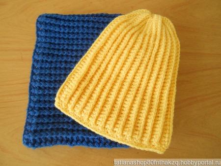 Комплект  шапочка и снуд ручной работы на заказ