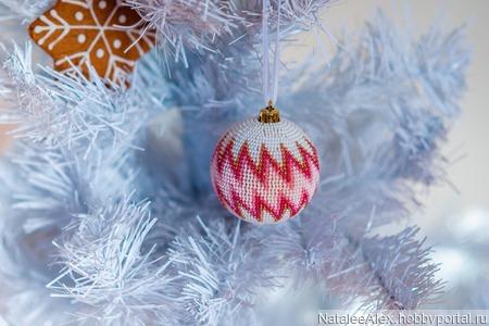 """Мастер-класс новогодний шар из бисера без крючка """"Розовый зигзаг"""" ручной работы на заказ"""