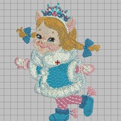 """Дизайн для вышивания """"Свинка снегурочка"""""""