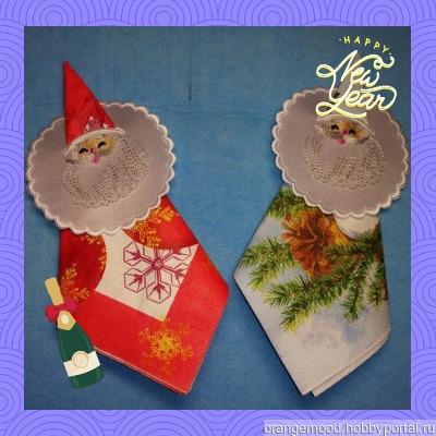 """Зажим для салфеток """"Дед Мороз"""" ручной работы на заказ"""
