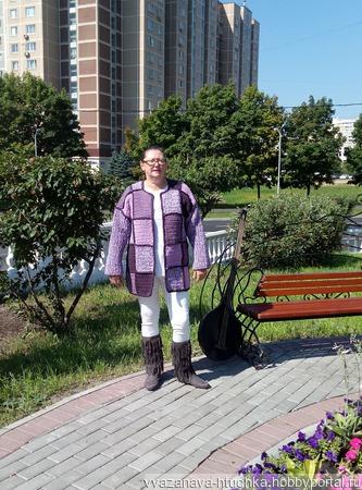 """Вяанное пальто """" Сирень"""" ручной работы на заказ"""