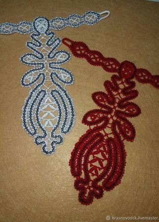 Кружевной галстук №2 ручной работы на заказ