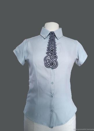 Кружевной галстук ручной работы на заказ