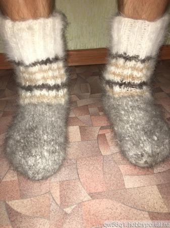 Пуховые носочки ручной работы на заказ