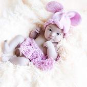 """Костюм для фотосессии новорожденного малыша """"Зайчата"""""""