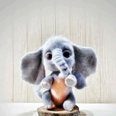 Интерьерная войлочная игрушка Слоняш