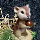 Войлочная интерьерная фигурка Мыша