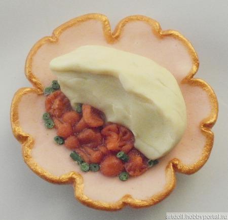 Картофельное пюре с грибами ручной работы на заказ