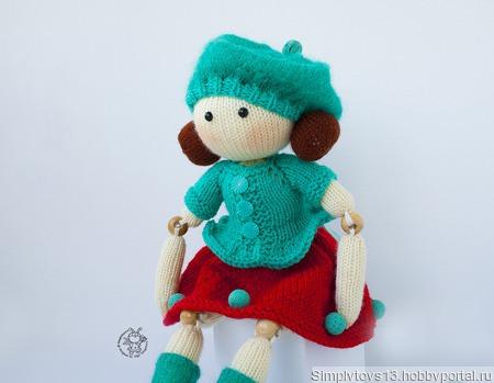 """Мастер-класс """"Шарнирная кукла Саманта"""" ручной работы на заказ"""