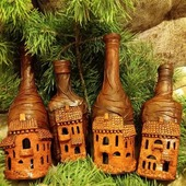 Бутылки - замки