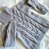 Вязаный свитер оверсайз из мохера