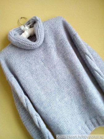 Вязаный свитер оверсайз из мохера ручной работы на заказ