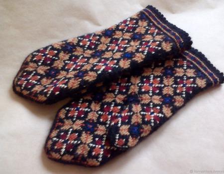 Варежки латышские на подкладке ручной работы на заказ