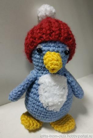 Пингвиненок в шапке с помпоном ручной работы на заказ