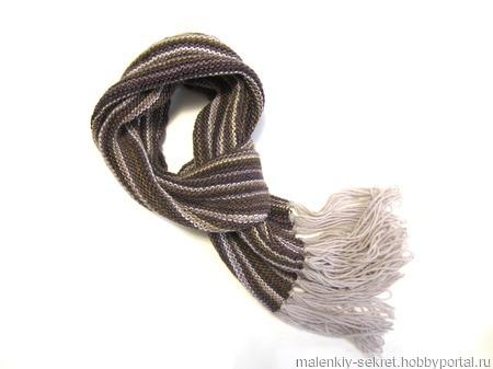 """Длинный шарф """"Капучино"""" ручной работы на заказ"""