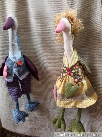 Кукла тильда-гусь ручной работы на заказ