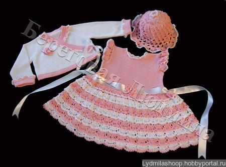 """Платье для девочки """"Лето"""" ручной работы на заказ"""