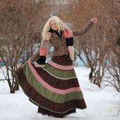 Вельветовая юбка с подъюбником