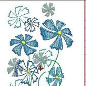 фото: Графика и дизайн — цифровые товары (вышивка цветов)