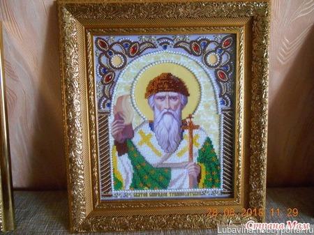 Икона Св. Спиридон Тримифунтский ручной работы на заказ