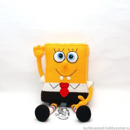 Игрушка-подушка Губка Боб ручной работы на заказ