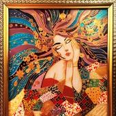 Картина по стеклу «Символ осени»