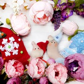 Дед Мороз и Снегурочка в стиле Тильда