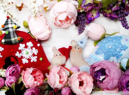 Дед Мороз и Снегурочка в стиле Тильда ручной работы на заказ