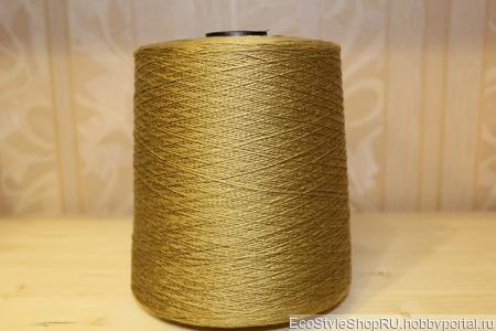 Нить лавсан-штапель ''Золотой металлик'' номер 220 ручной работы на заказ