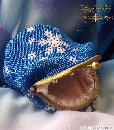 """Комплект """"Снег кружится"""" ручной работы на заказ"""
