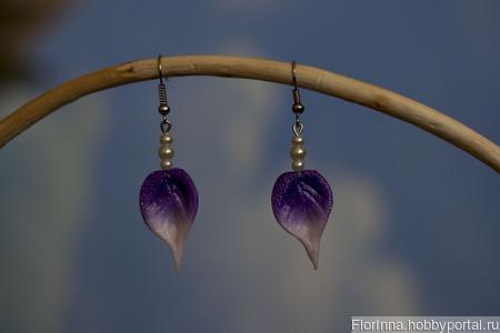 """Комплект украшений """"Небесная лилия"""" ручной работы на заказ"""